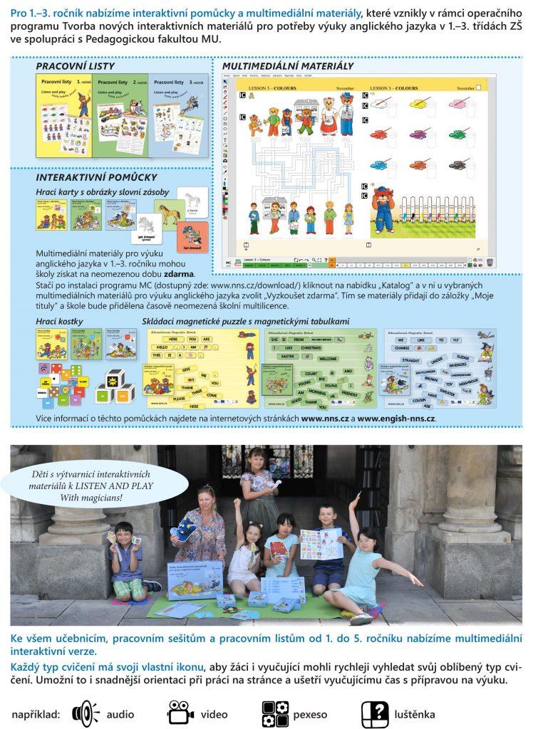 pracovní listy. multimediální materiály a interaktivní pomůcky k výuce anglického jazyka v 1.-3. třídách základních škol (LISTEN AND PLAY With magicians!)